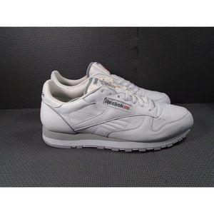 Mens Sz 13 Reebok Classic White Sneakers